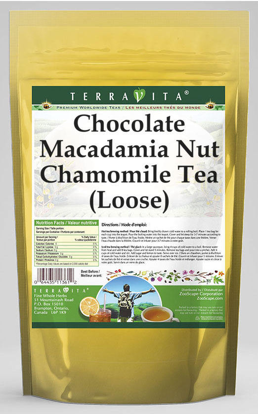 Chocolate Macadamia Nut Chamomile Tea (Loose)
