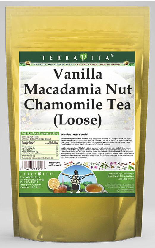 Vanilla Macadamia Nut Chamomile Tea (Loose)