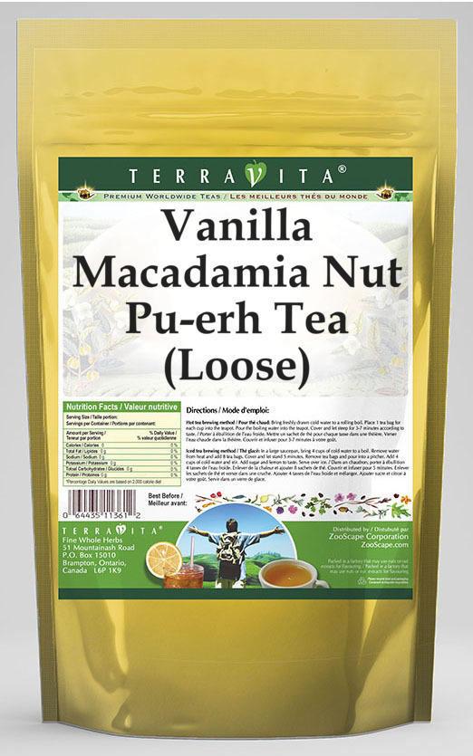 Vanilla Macadamia Nut Pu-erh Tea (Loose)
