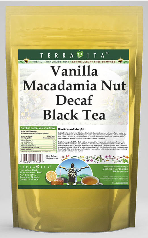 Vanilla Macadamia Nut Decaf Black Tea