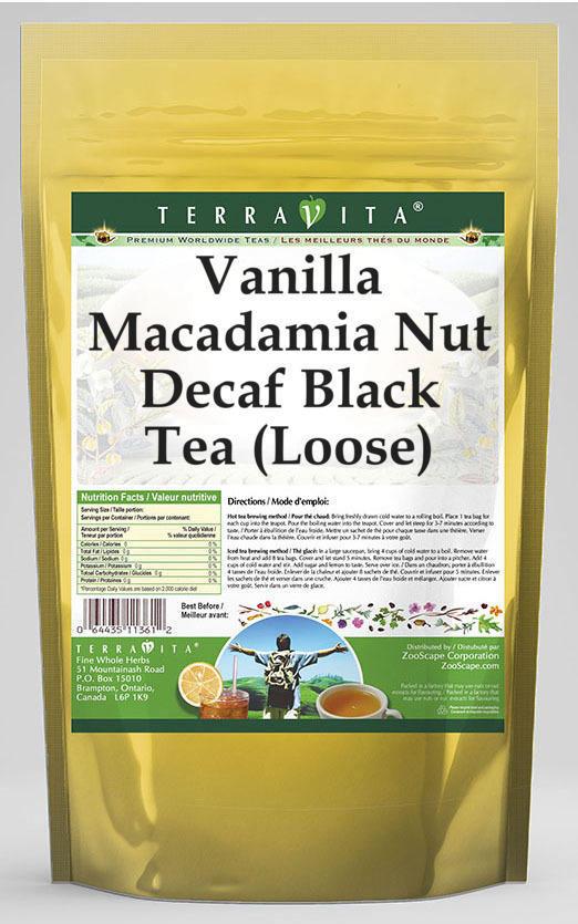 Vanilla Macadamia Nut Decaf Black Tea (Loose)