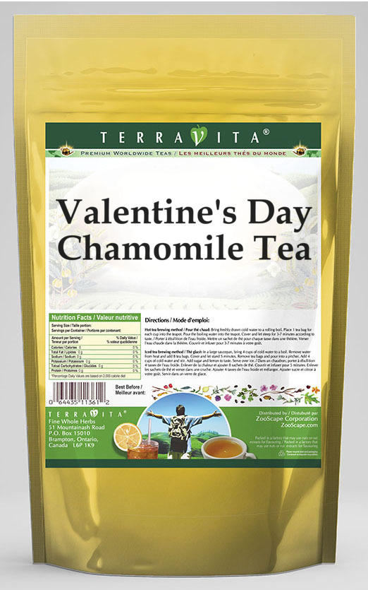 Valentine's Day Chamomile Tea