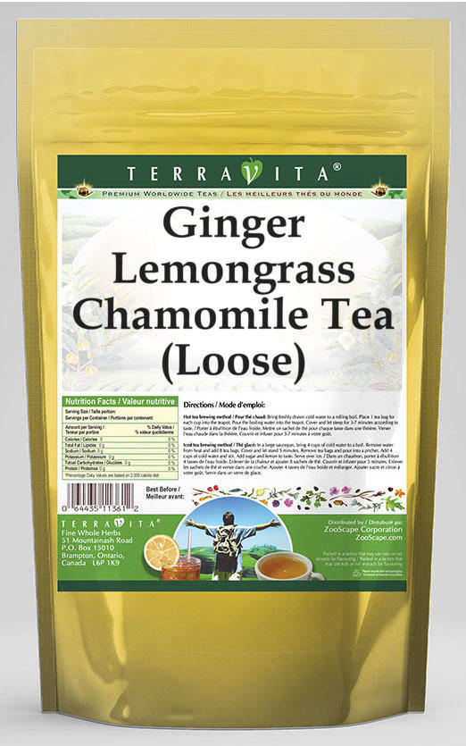 Ginger Lemongrass Chamomile Tea (Loose)