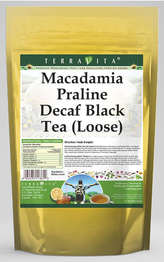 Macadamia Praline Decaf Black Tea (Loose)