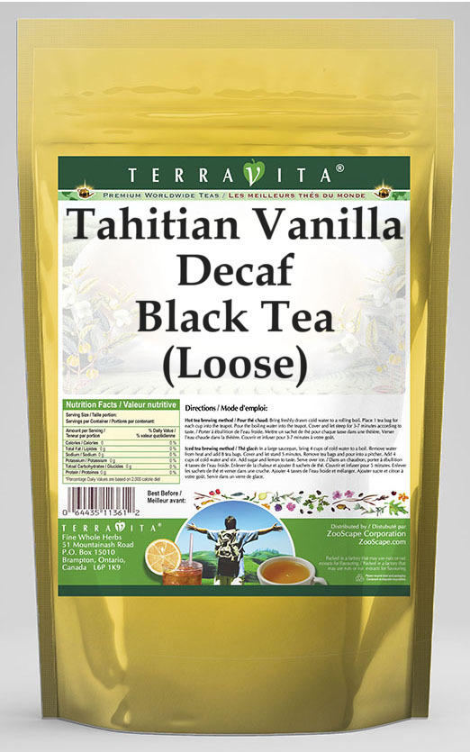 Tahitian Vanilla Decaf Black Tea (Loose)
