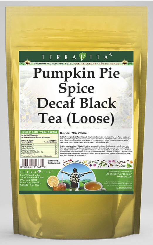 Pumpkin Pie Spice Decaf Black Tea (Loose)