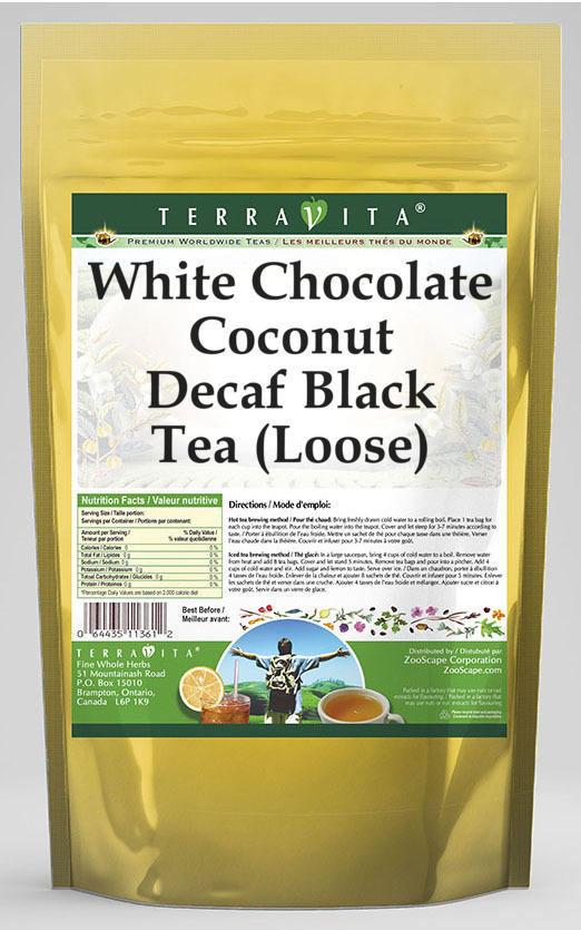 White Chocolate Coconut Decaf Black Tea (Loose)