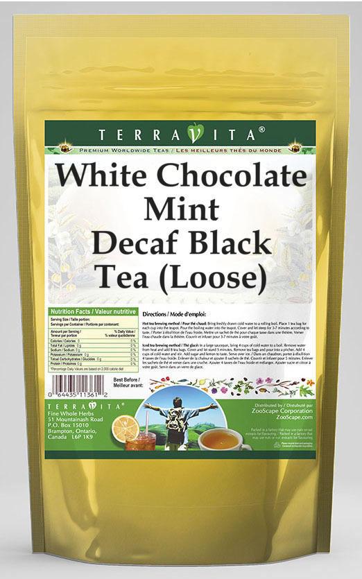 White Chocolate Mint Decaf Black Tea (Loose)