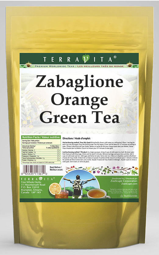 Zabaglione Orange Green Tea