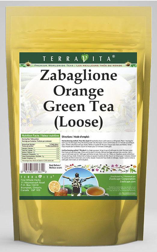 Zabaglione Orange Green Tea (Loose)