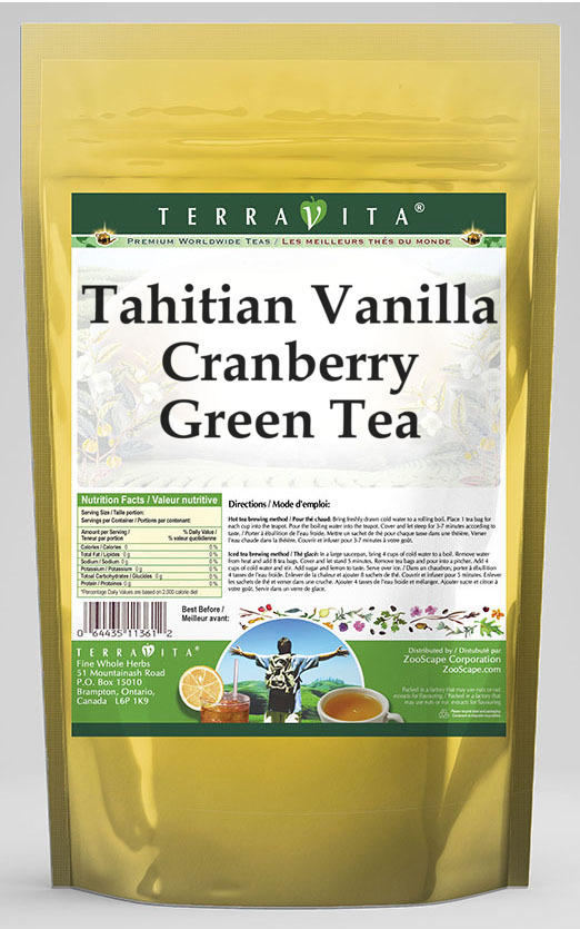 Tahitian Vanilla Cranberry Green Tea