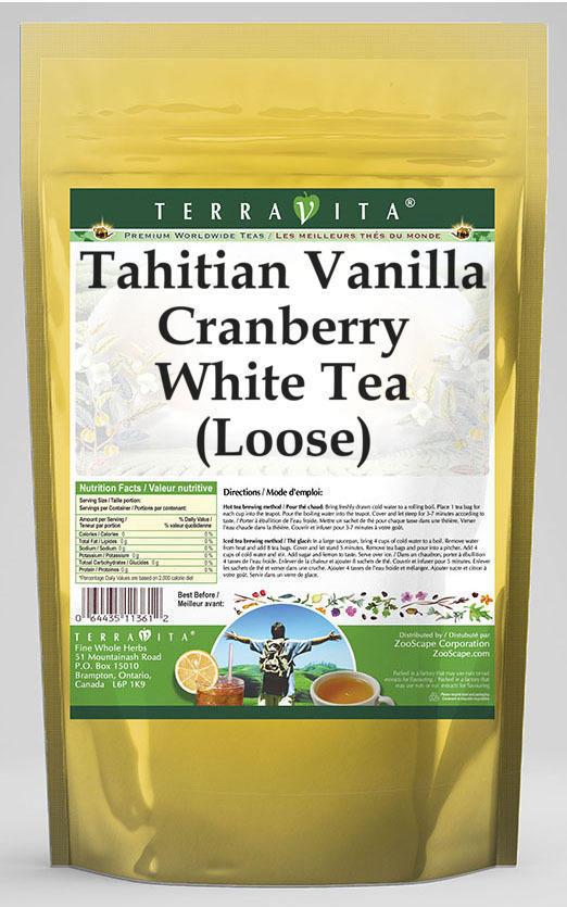 Tahitian Vanilla Cranberry White Tea (Loose)
