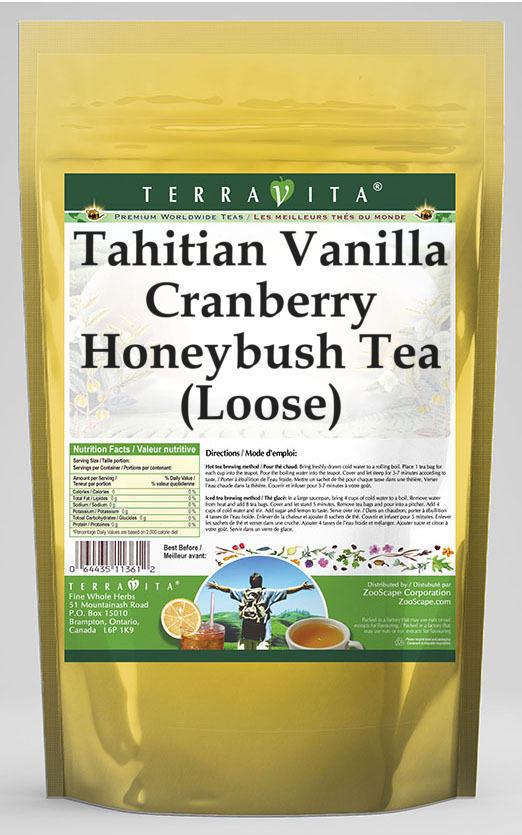 Tahitian Vanilla Cranberry Honeybush Tea (Loose)