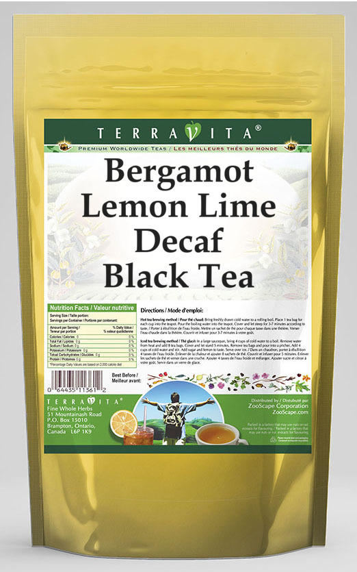 Bergamot Lemon Lime Decaf Black Tea