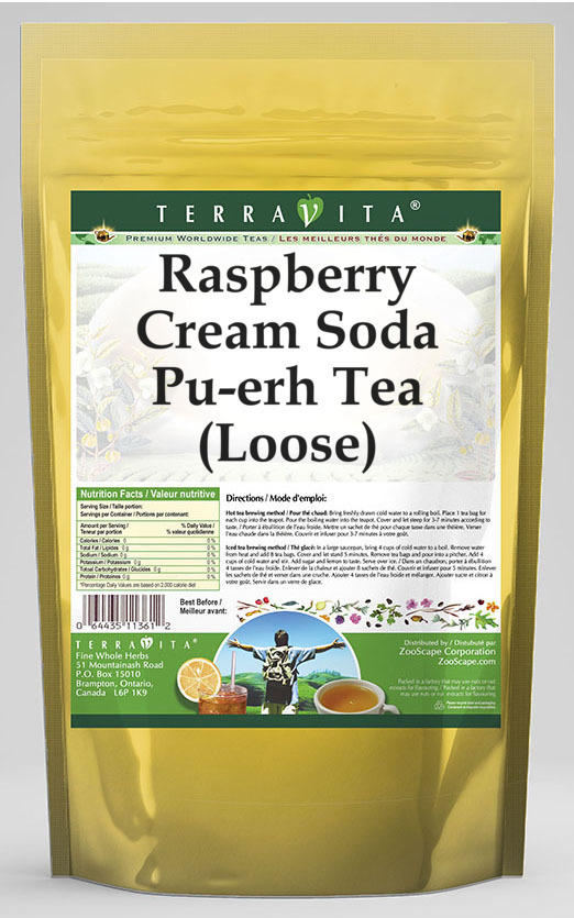 Raspberry Cream Soda Pu-erh Tea (Loose)