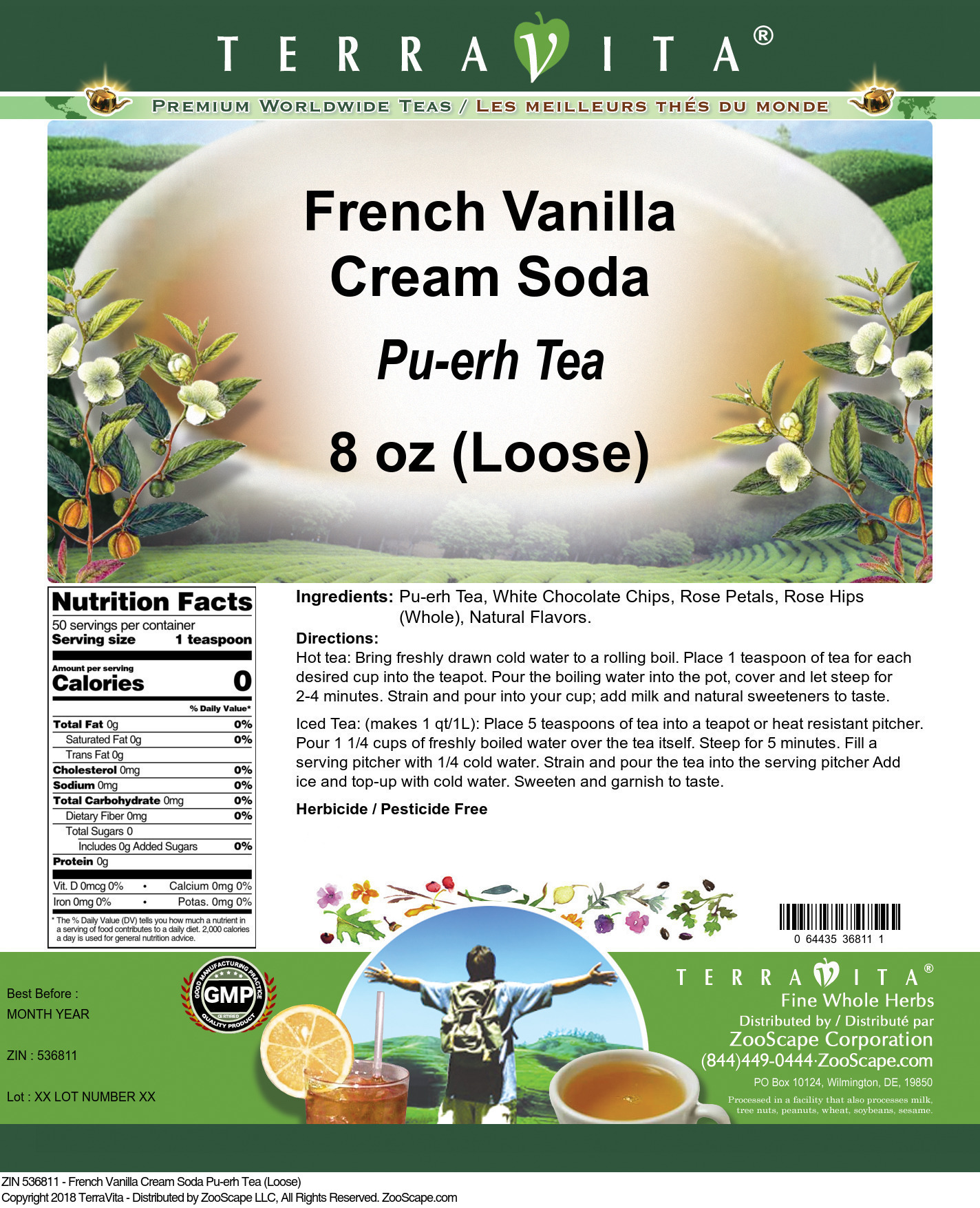 French Vanilla Cream Soda Pu-erh Tea (Loose)