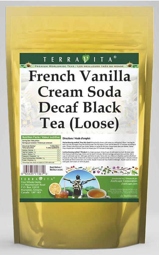 French Vanilla Cream Soda Decaf Black Tea (Loose)