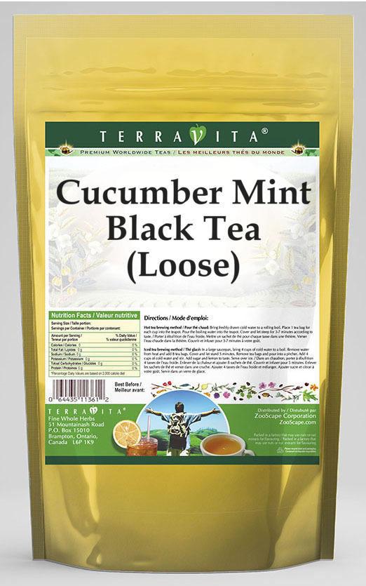 Cucumber Mint Black Tea (Loose)