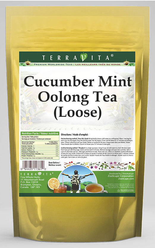 Cucumber Mint Oolong Tea (Loose)
