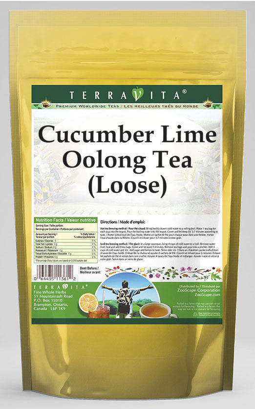 Cucumber Lime Oolong Tea (Loose)