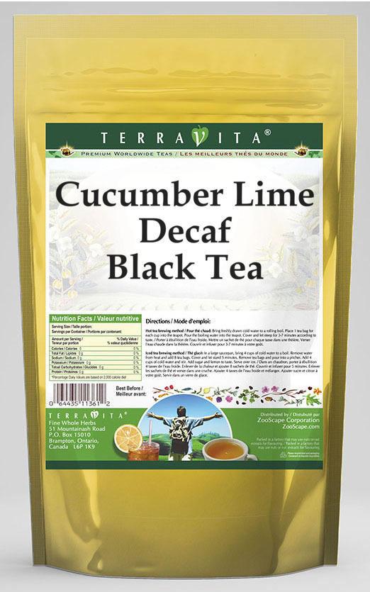 Cucumber Lime Decaf Black Tea