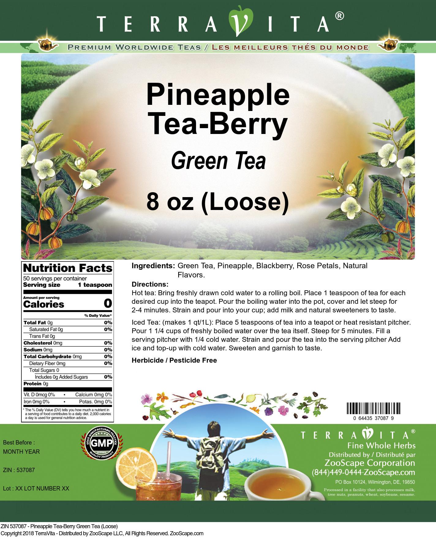 Pineapple Tea-Berry Green Tea (Loose)