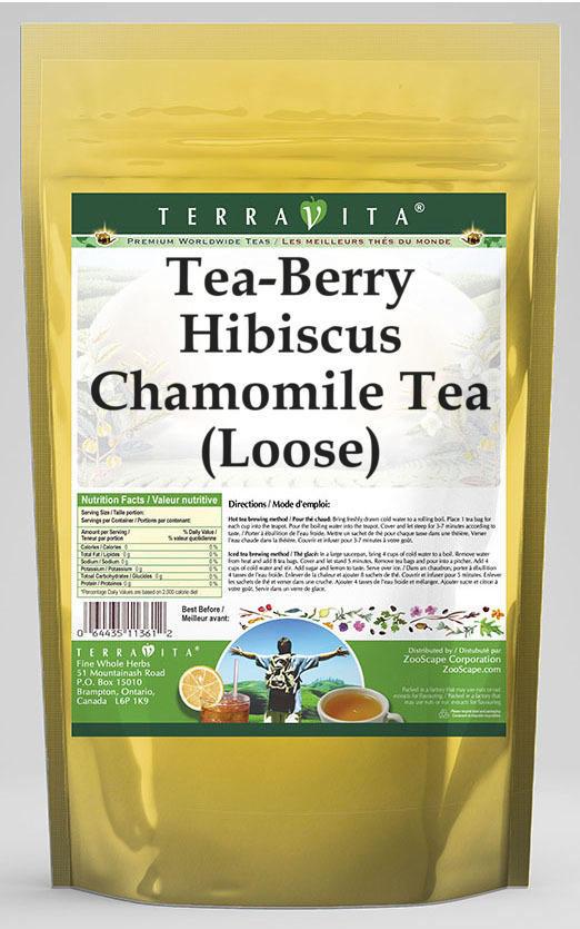 Tea-Berry Hibiscus Chamomile Tea (Loose)