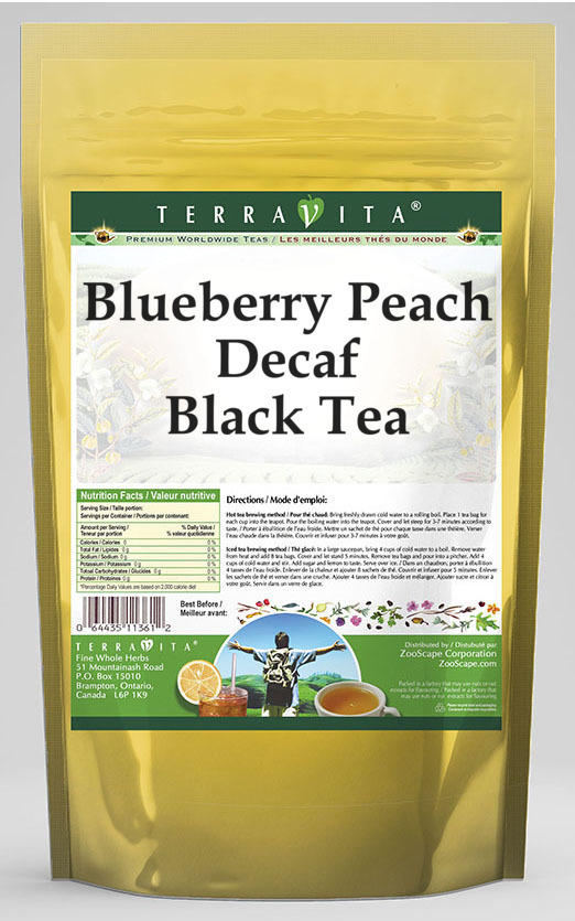 Blueberry Peach Decaf Black Tea