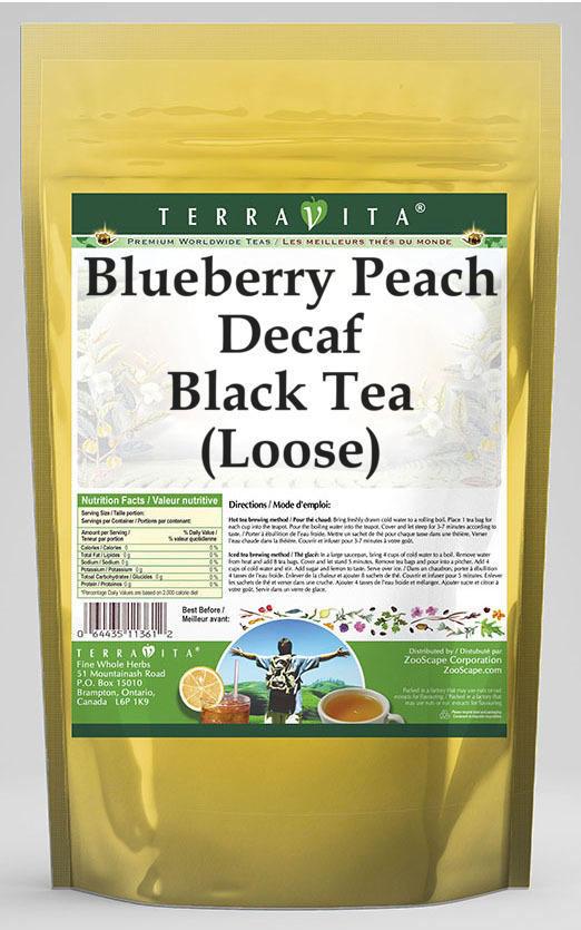 Blueberry Peach Decaf Black Tea (Loose)