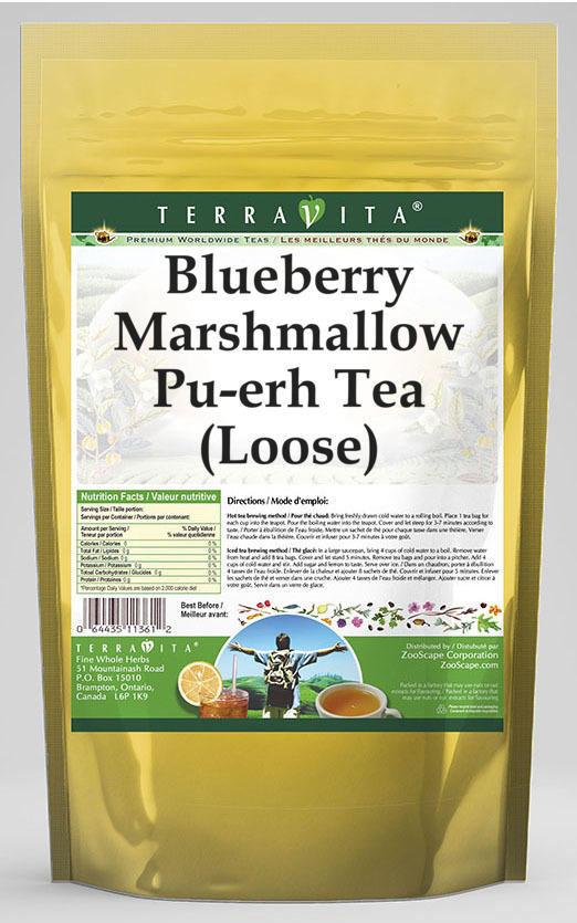 Blueberry Marshmallow Pu-erh Tea (Loose)