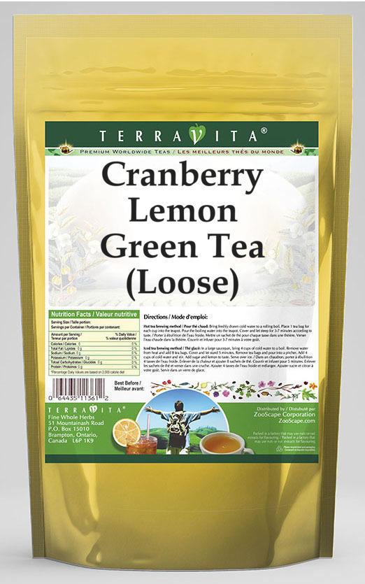 Cranberry Lemon Green Tea (Loose)