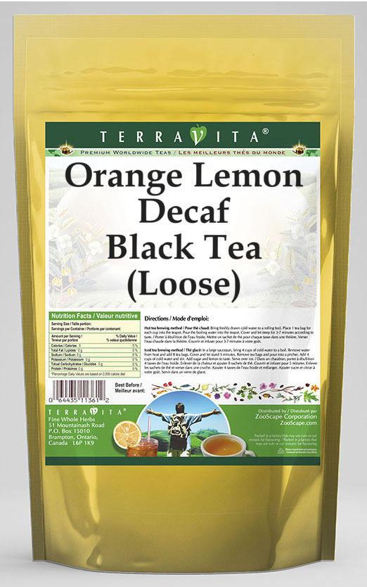 Orange Lemon Decaf Black Tea (Loose)