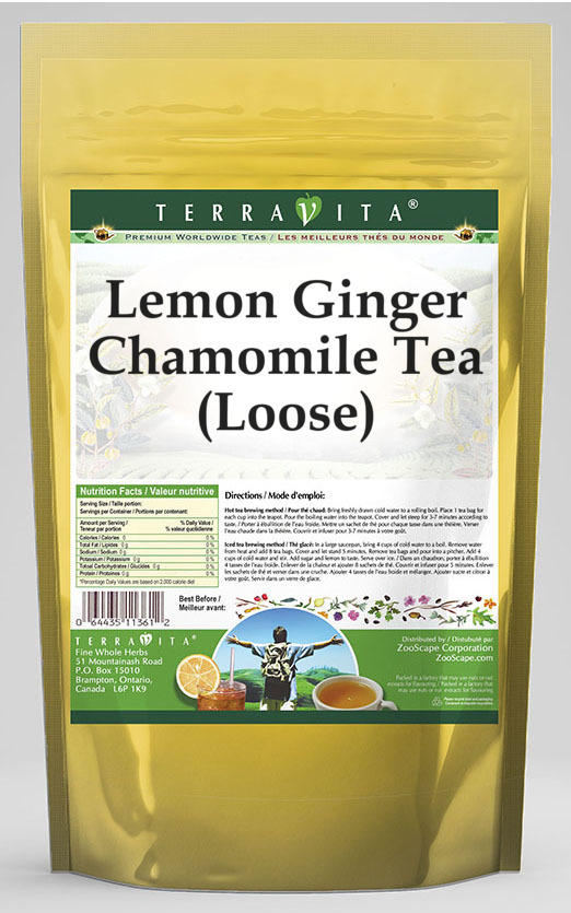 Lemon Ginger Chamomile Tea (Loose)