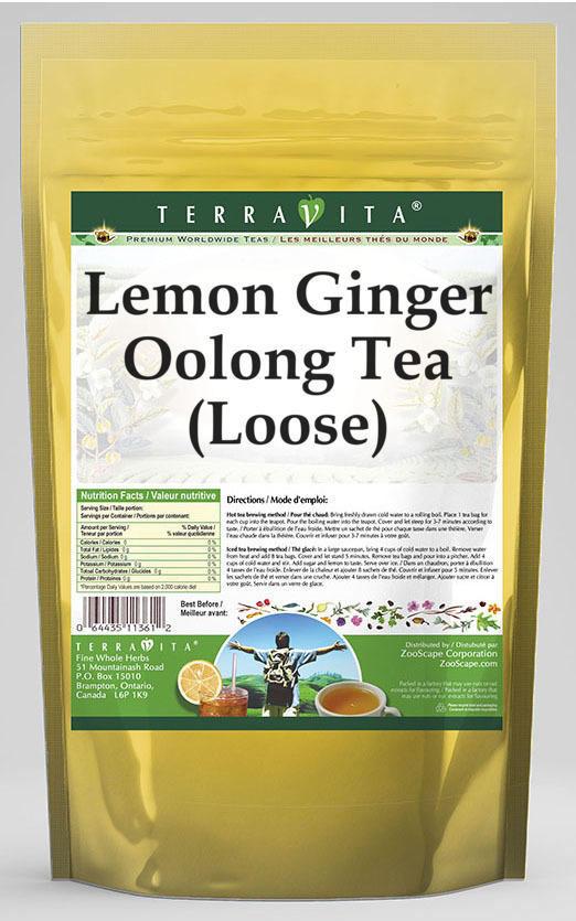 Lemon Ginger Oolong Tea (Loose)