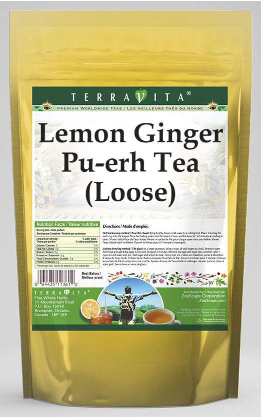 Lemon Ginger Pu-erh Tea (Loose)