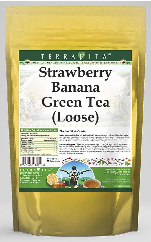 Strawberry Banana Green Tea (Loose)