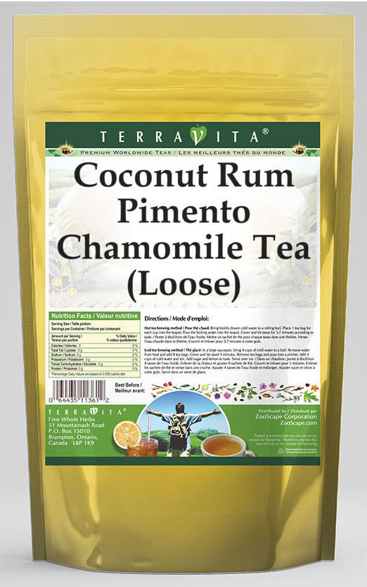Coconut Rum Pimento Chamomile Tea (Loose)
