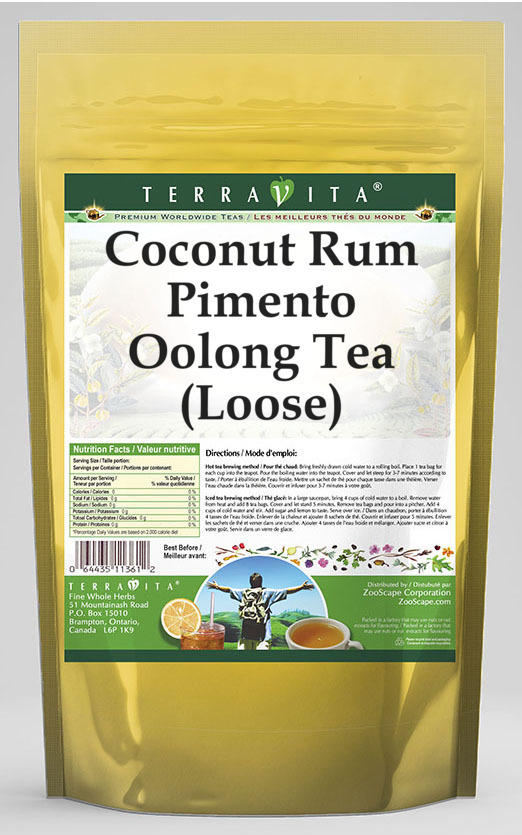 Coconut Rum Pimento Oolong Tea (Loose)