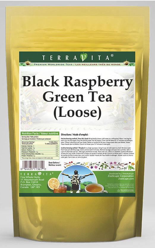 Black Raspberry Green Tea (Loose)