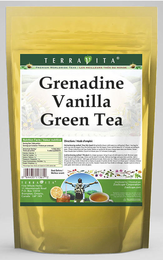 Grenadine Vanilla Green Tea