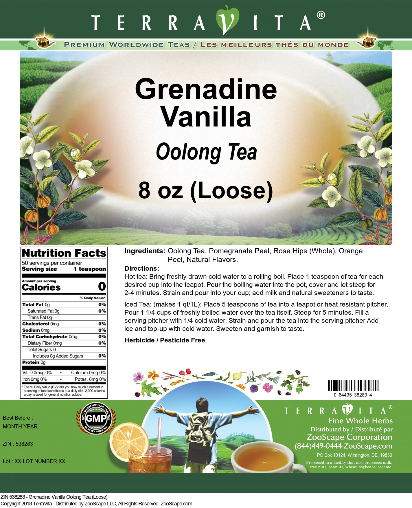 Grenadine Vanilla Oolong Tea (Loose)