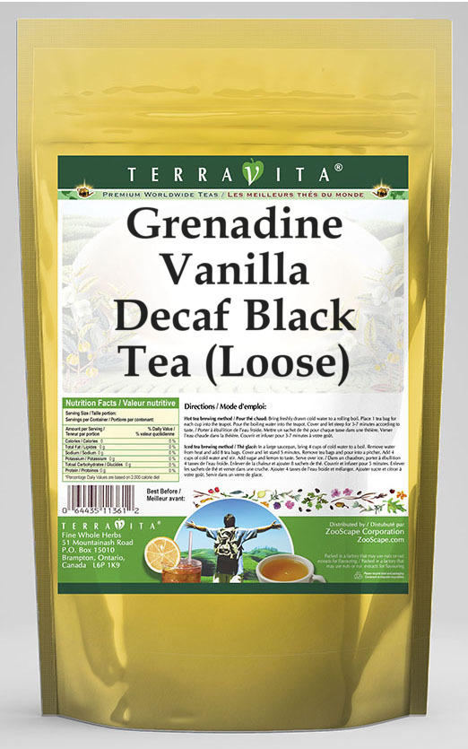 Grenadine Vanilla Decaf Black Tea (Loose)