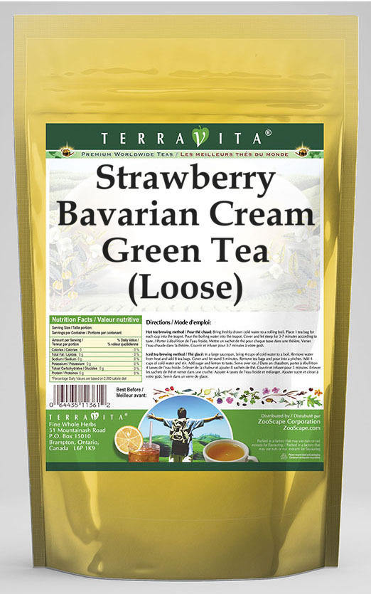 Strawberry Bavarian Cream Green Tea (Loose)