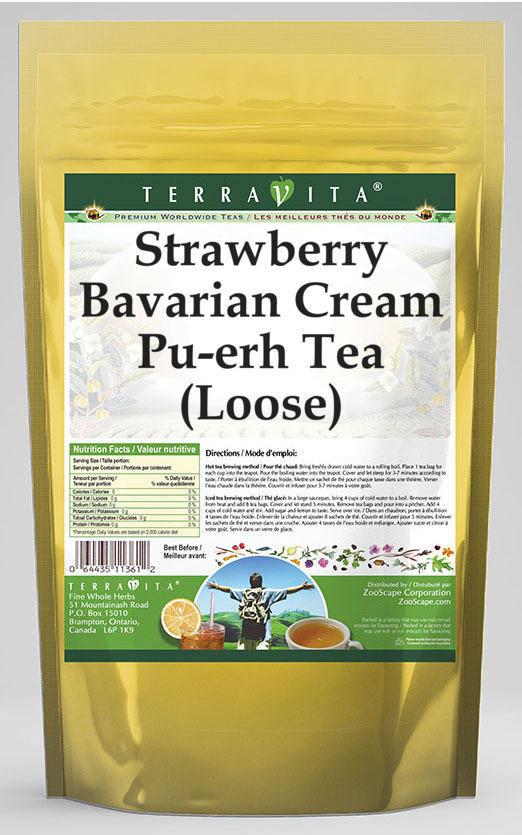 Strawberry Bavarian Cream Pu-erh Tea (Loose)