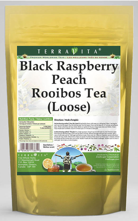 Black Raspberry Peach Rooibos Tea (Loose)