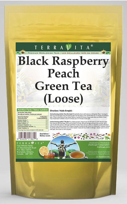 Black Raspberry Peach Green Tea (Loose)