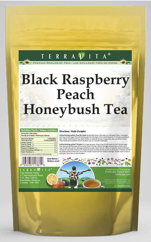 Black Raspberry Peach Honeybush Tea