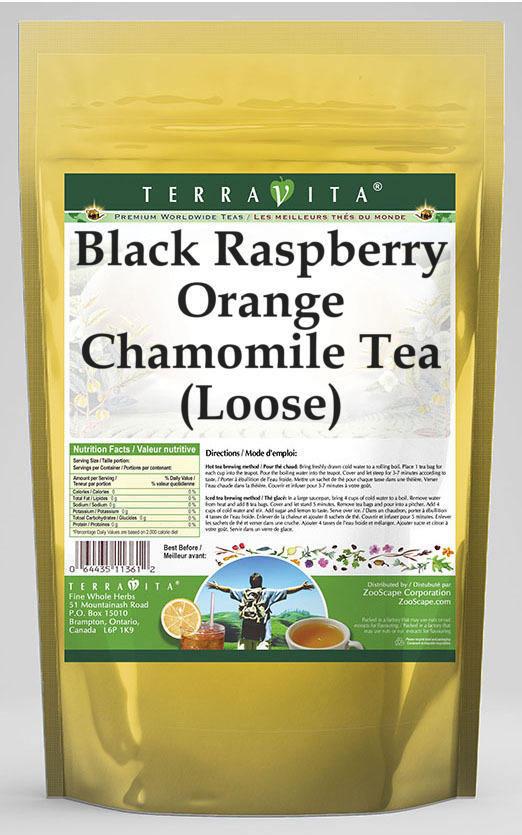 Black Raspberry Orange Chamomile Tea (Loose)