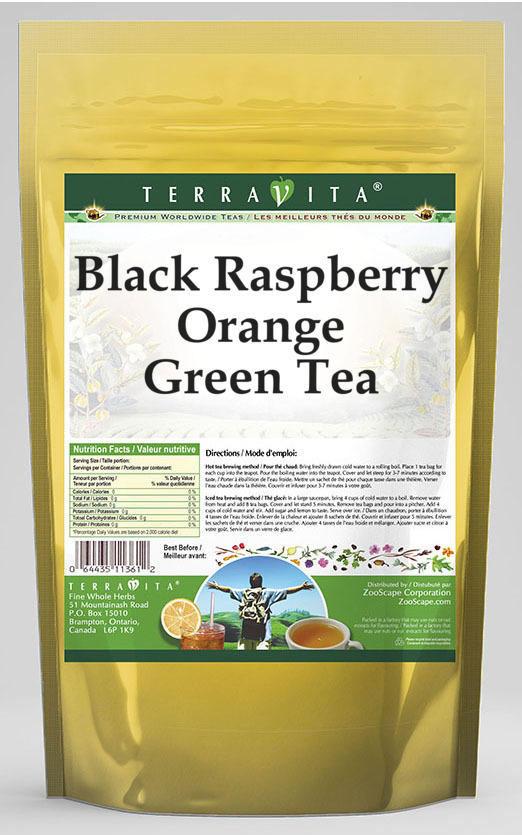 Black Raspberry Orange Green Tea