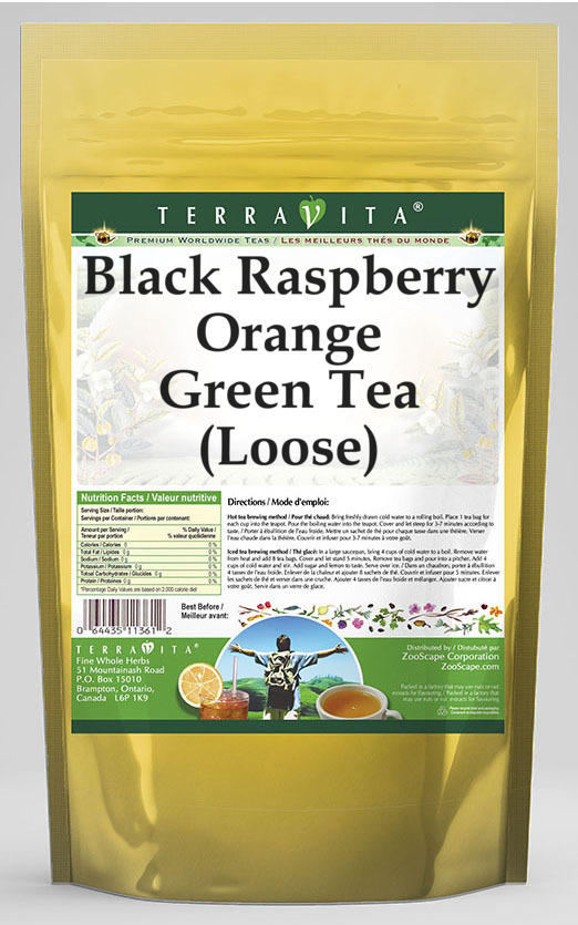 Black Raspberry Orange Green Tea (Loose)